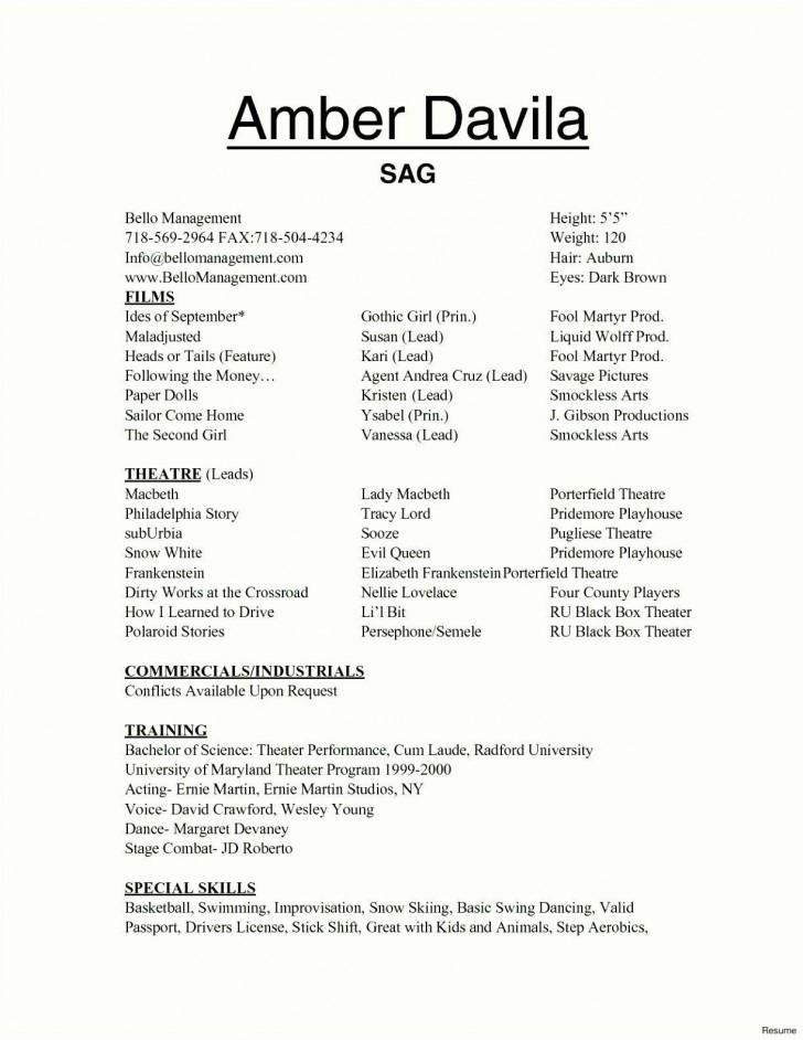 002 Marvelou Technical Theatre Resume Template Design  Google Doc Tech728