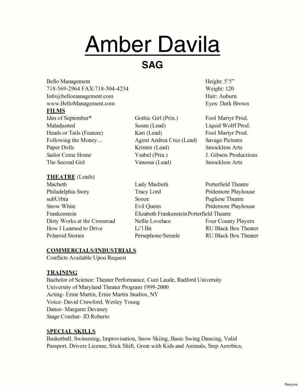 002 Marvelou Technical Theatre Resume Template Design  Google Doc Tech960