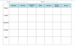 002 Marvelou Weekly Lesson Plan Template Highest Quality  Preschool Printable Google Doc Excel Free