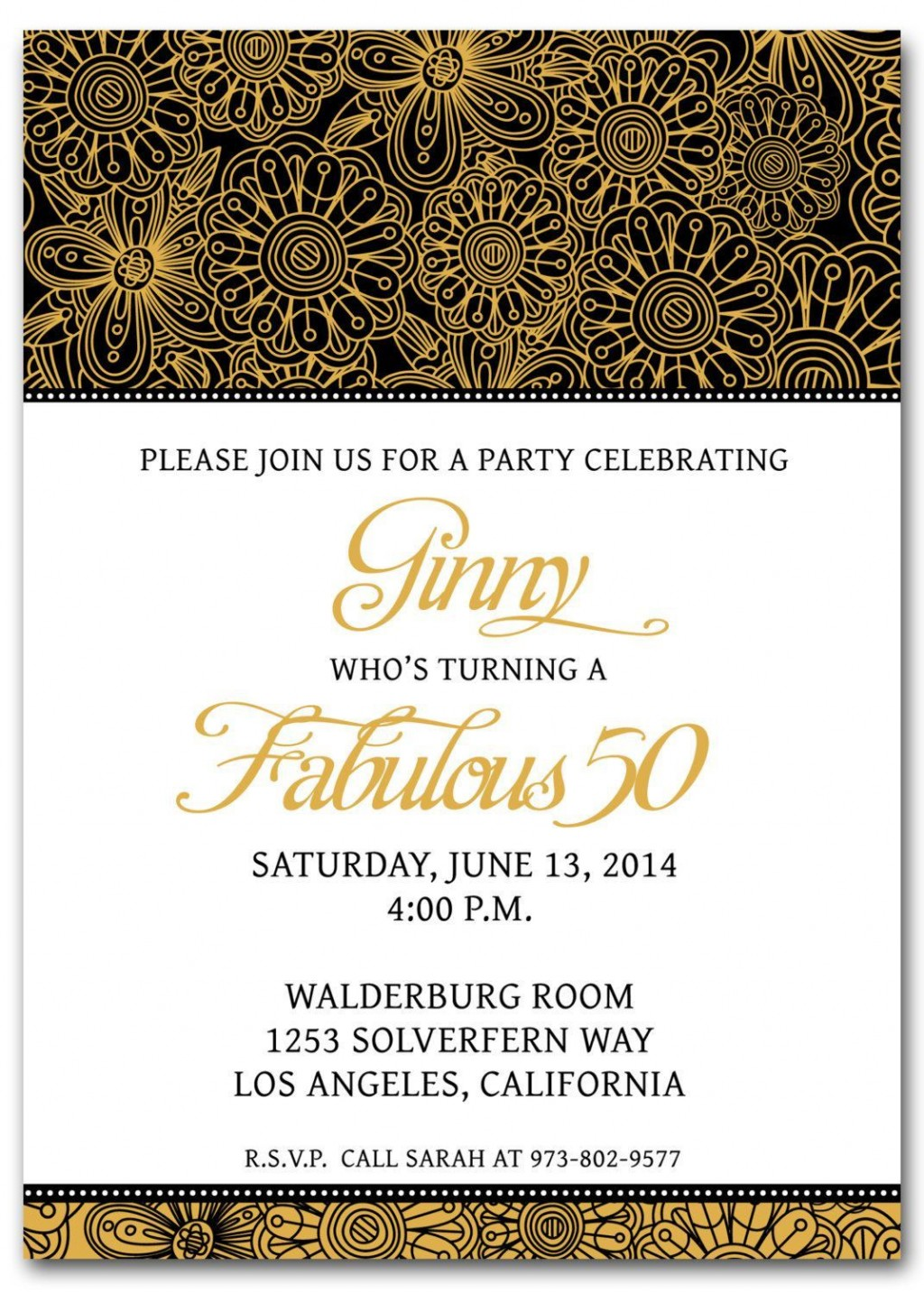 002 Outstanding 50th Birthday Invitation Template Image  Vector Free For HimLarge