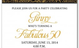 002 Outstanding 50th Birthday Invitation Template Image  For Him Microsoft Word Free