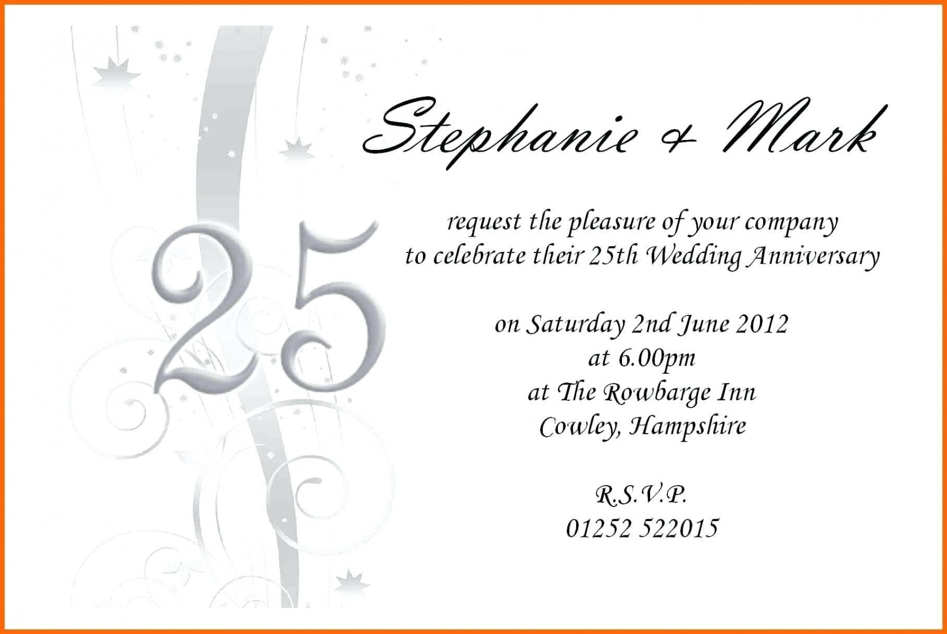 002 Outstanding 50th Wedding Anniversary Invitation Template Microsoft Word Sample  Free1920