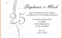 002 Outstanding 50th Wedding Anniversary Invitation Template Microsoft Word Sample  Free