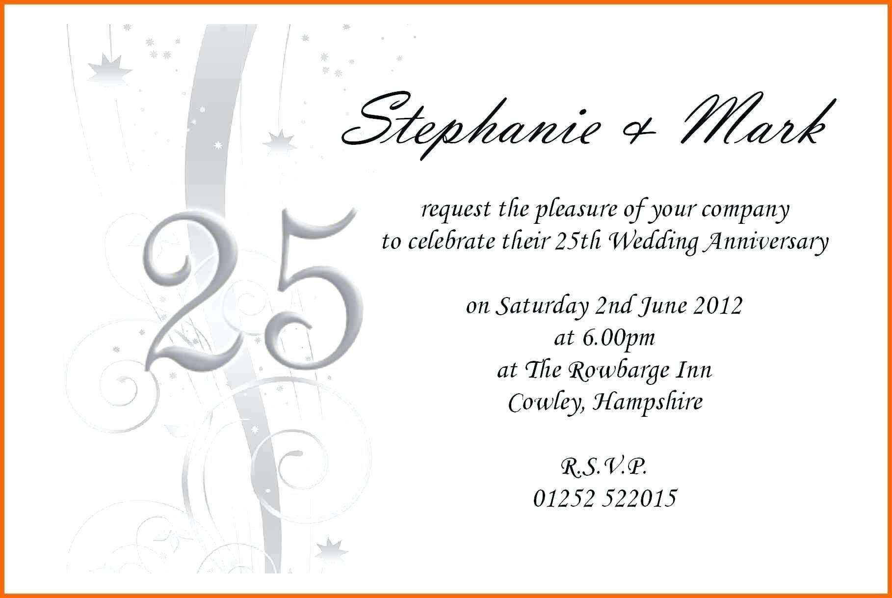 002 Outstanding 50th Wedding Anniversary Invitation Template Microsoft Word Sample  FreeFull