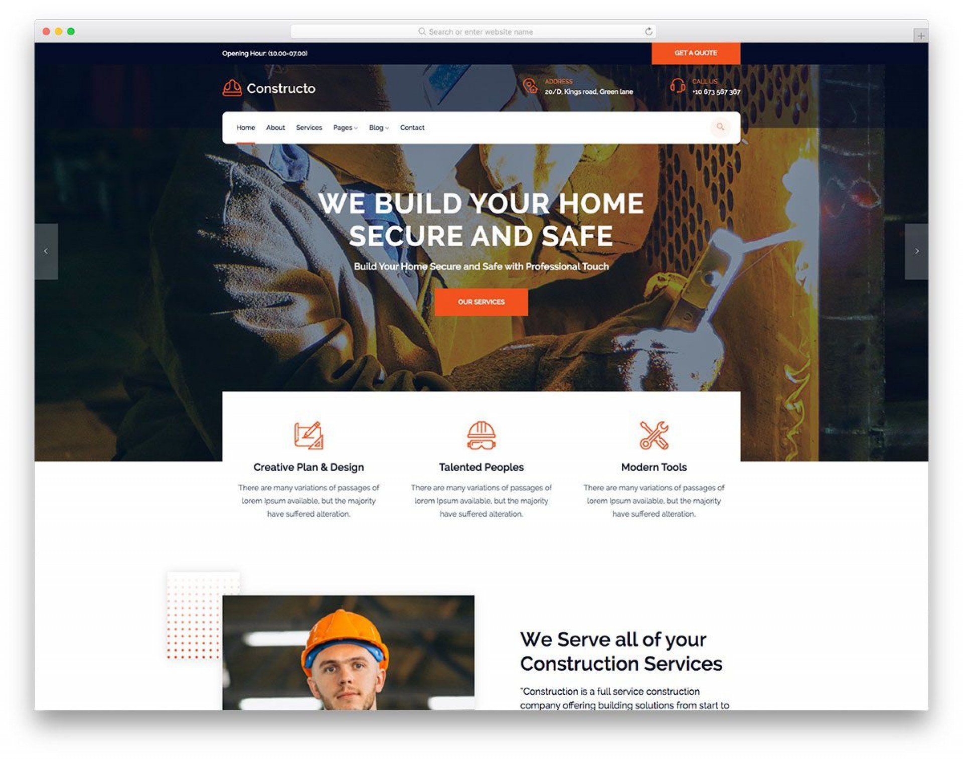 002 Outstanding Busines Website Html Template Free Download High Resolution  With Cs Company1920