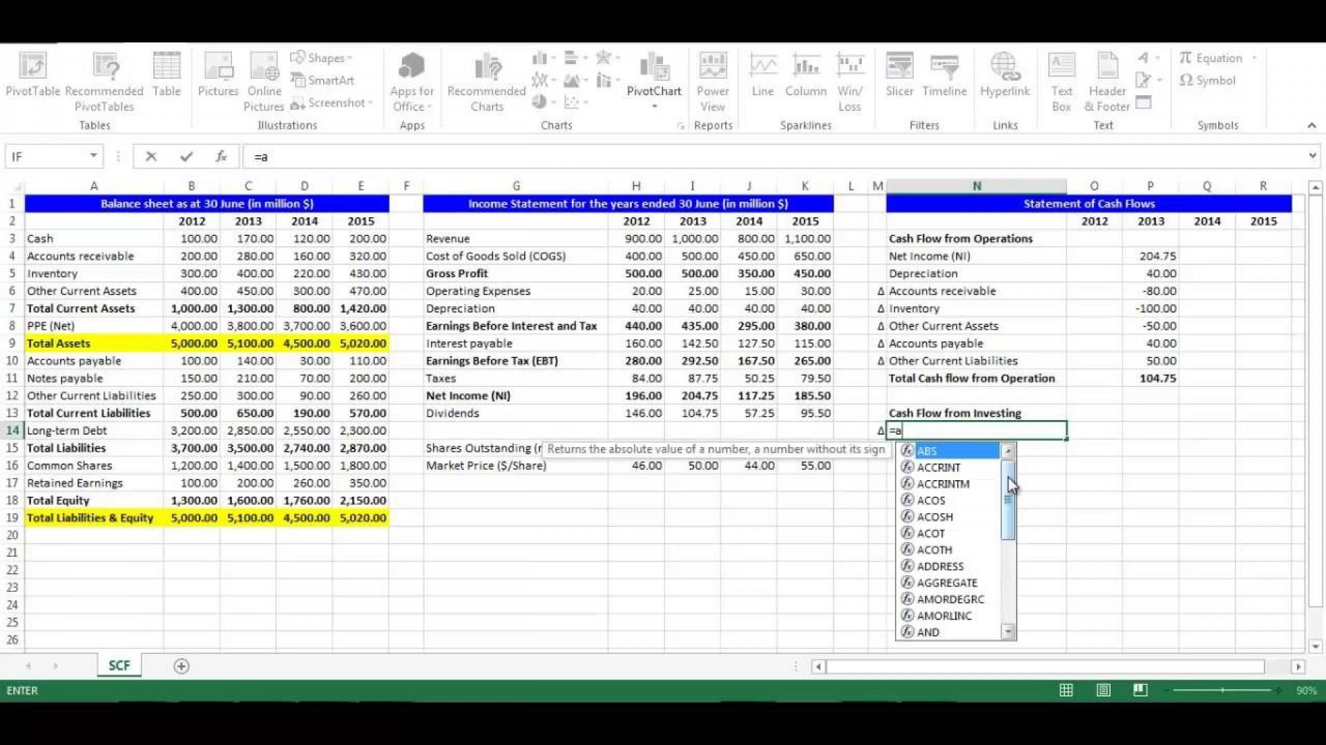 002 Outstanding Cash Flow Template Excel Concept  2007 Download1920