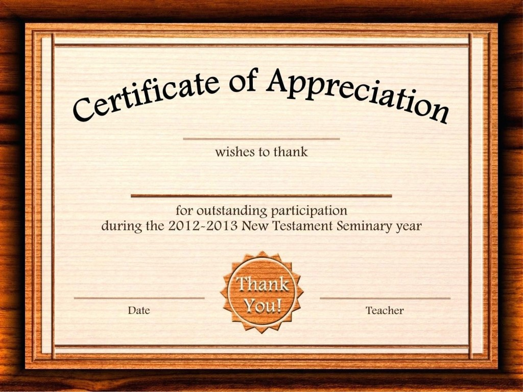 002 Outstanding Certificate Of Appreciation Template Free Design  Microsoft Word Download Publisher EditableLarge