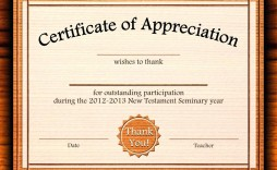 002 Outstanding Certificate Of Appreciation Template Free Design  Microsoft Word Download Publisher Editable
