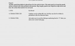 002 Outstanding Comic Book Script Writing Format Idea  Example