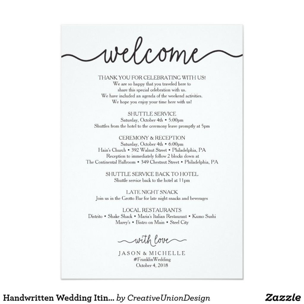 002 Outstanding Cruise Wedding Welcome Letter Template Photo Large
