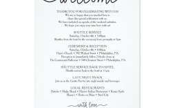 002 Outstanding Cruise Wedding Welcome Letter Template Photo
