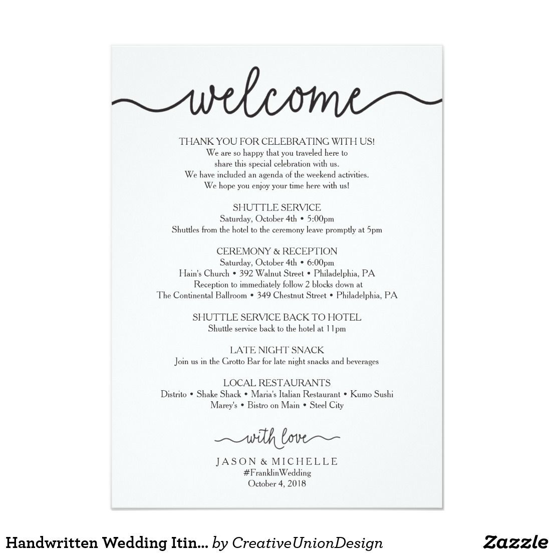 002 Outstanding Cruise Wedding Welcome Letter Template Photo Full