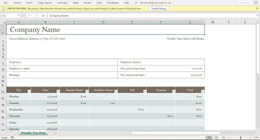 002 Outstanding Excel Time Card Calculator Template Highest Clarity  EmployeeFull