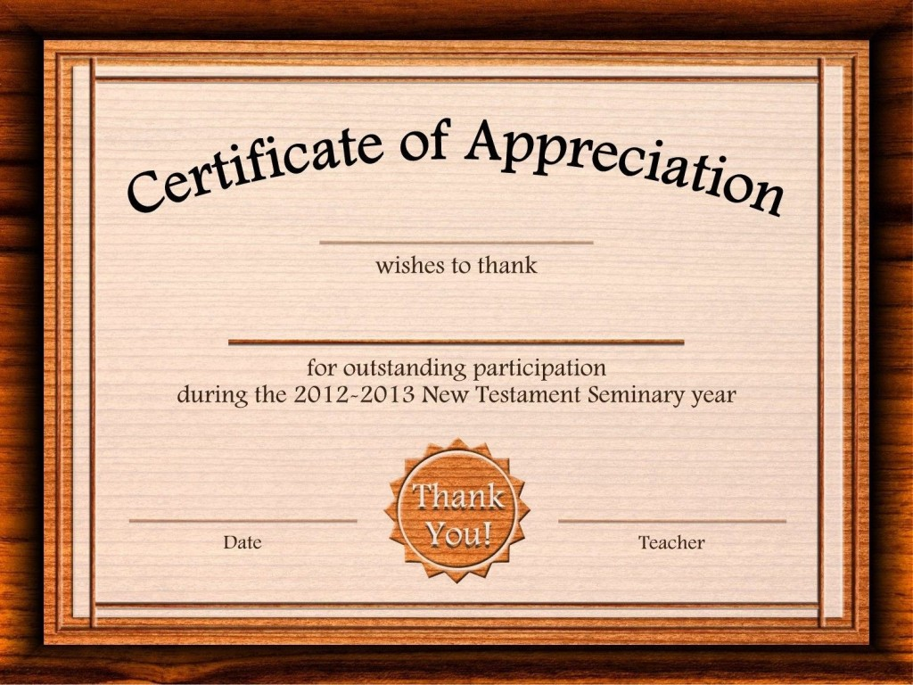 002 Outstanding Free Certificate Template Word Download Highest Quality  Of Appreciation Doc Award BorderLarge