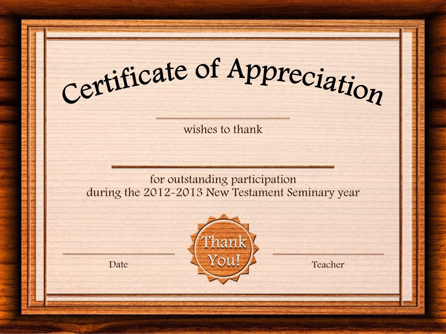 002 Outstanding Free Certificate Template Word Download Highest Quality  Of Appreciation Doc Award BorderFull