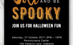 002 Outstanding Free Halloween Invite Template Highest Clarity  Templates Party Invitation For Word