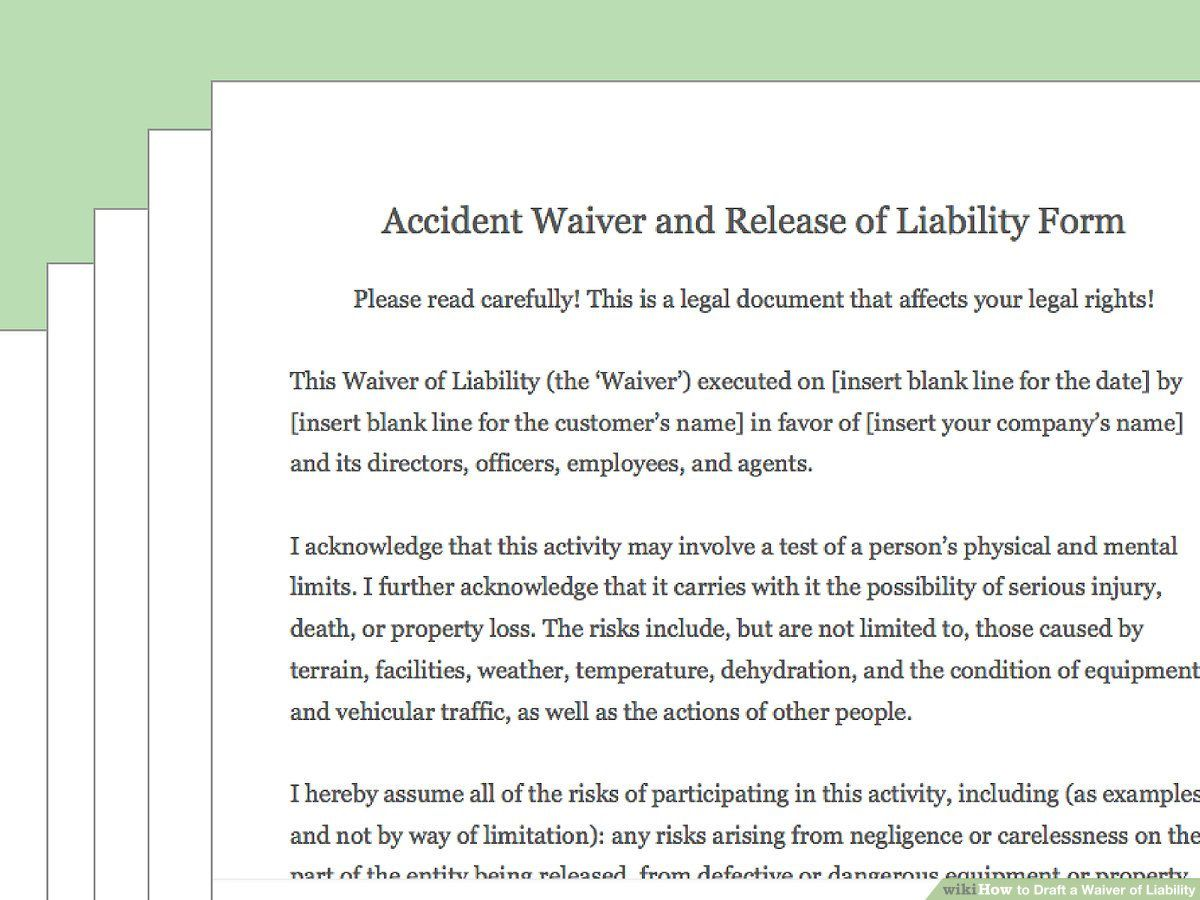 002 Outstanding Liability Release Form Template Sample  Free GeneralFull
