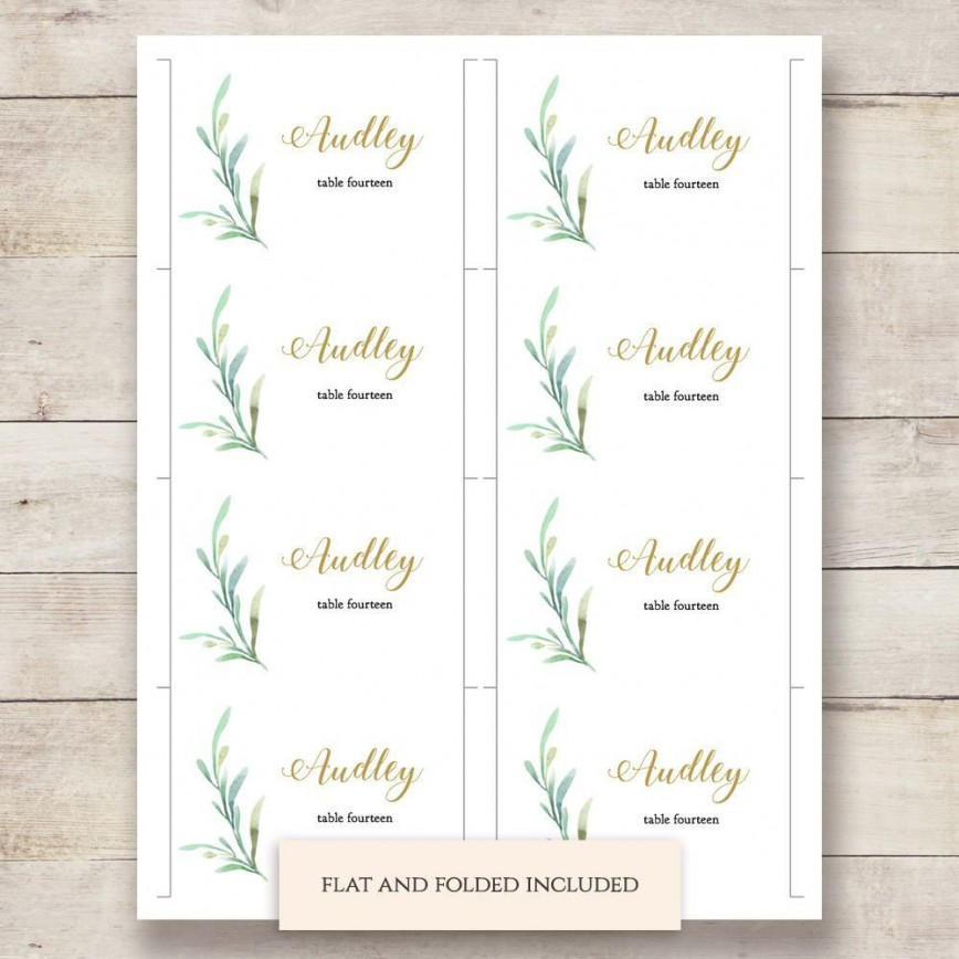 002 Outstanding Name Place Card Template High Resolution  Free Word Publisher Wedding868