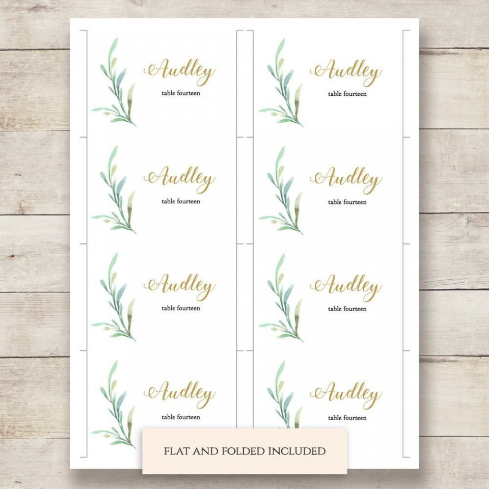 002 Outstanding Name Place Card Template High Resolution  Free Word Publisher Wedding960
