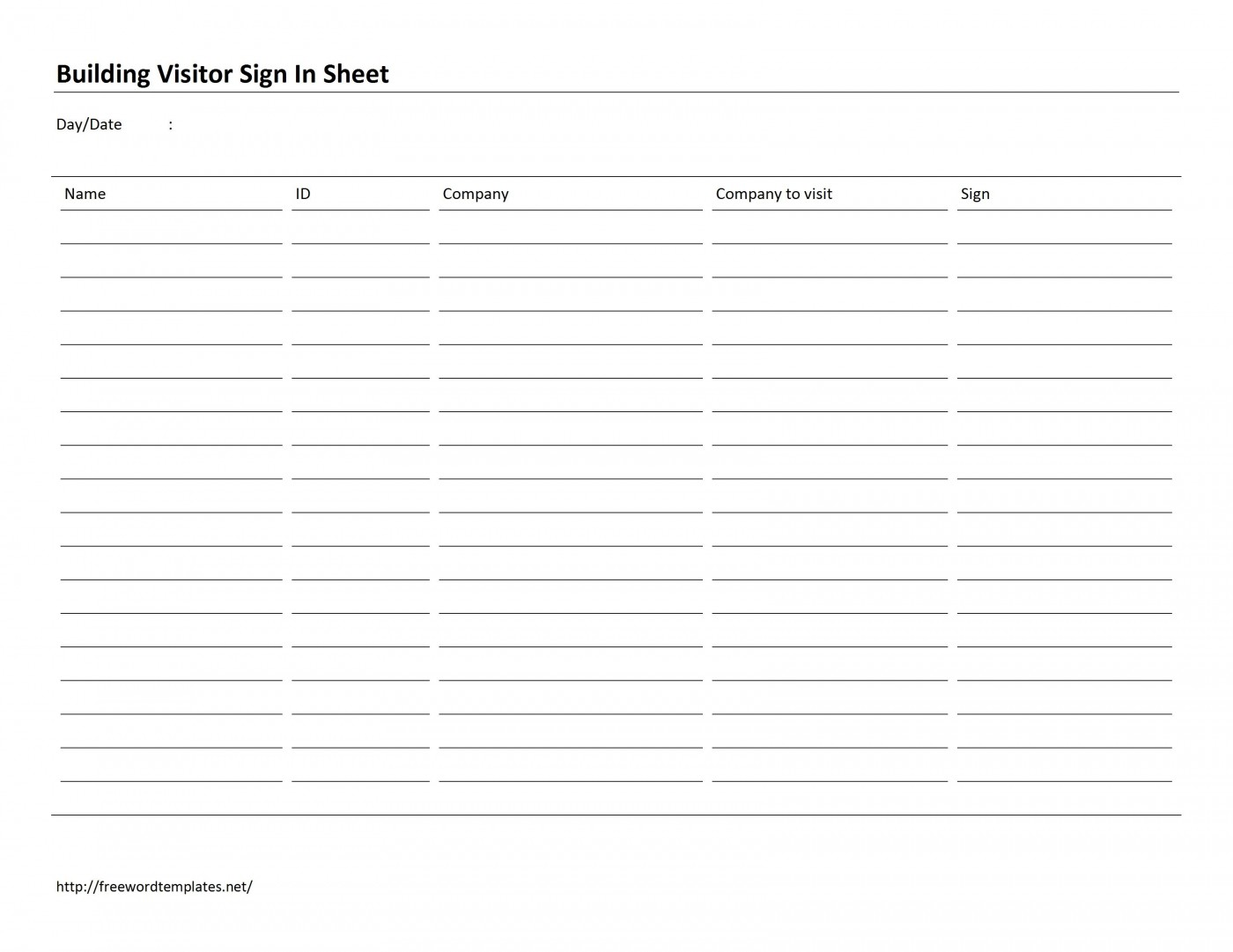 002 Outstanding Office Visitor Sign In Sheet Template Image 1400