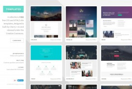 002 Outstanding One Page Website Template Free Download Html5 High Resolution  Parallax