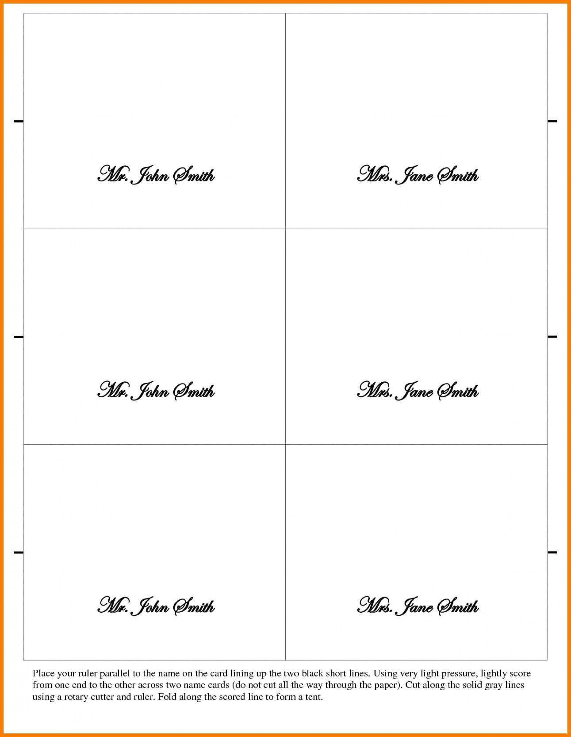 002 Outstanding Place Card Template Word Design  Free Name Folding Microsoft Table1920