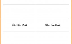 002 Outstanding Place Card Template Word Design  Format Download Free Fold Over