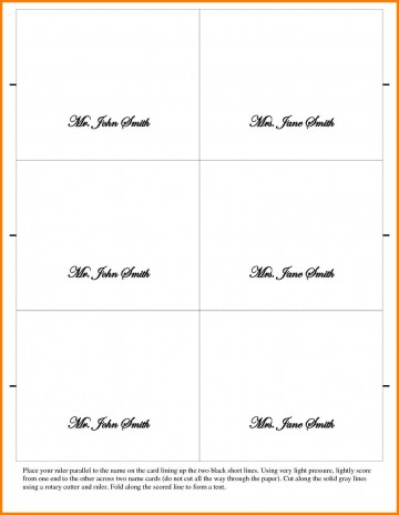 002 Outstanding Place Card Template Word Design  Free Name Folding Microsoft Table360