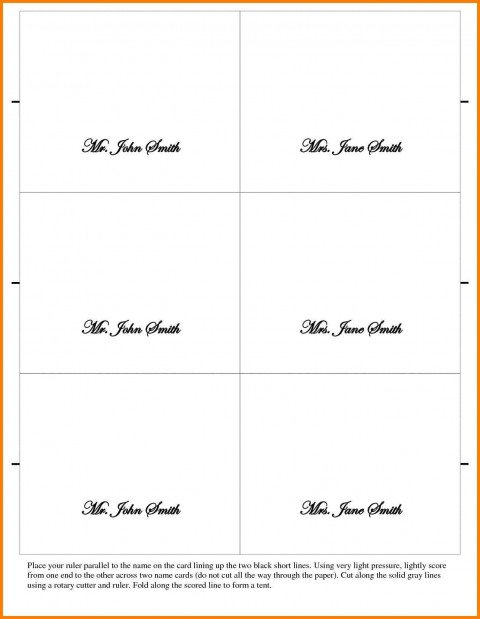 002 Outstanding Place Card Template Word Design  Free Name Folding Microsoft Table480