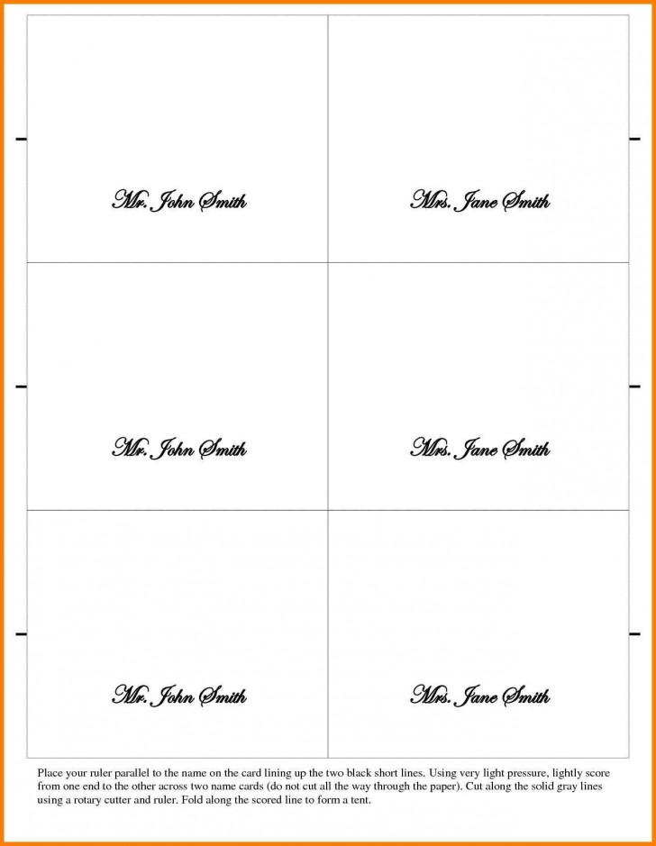 002 Outstanding Place Card Template Word Design  Free Name Folding Microsoft Table728