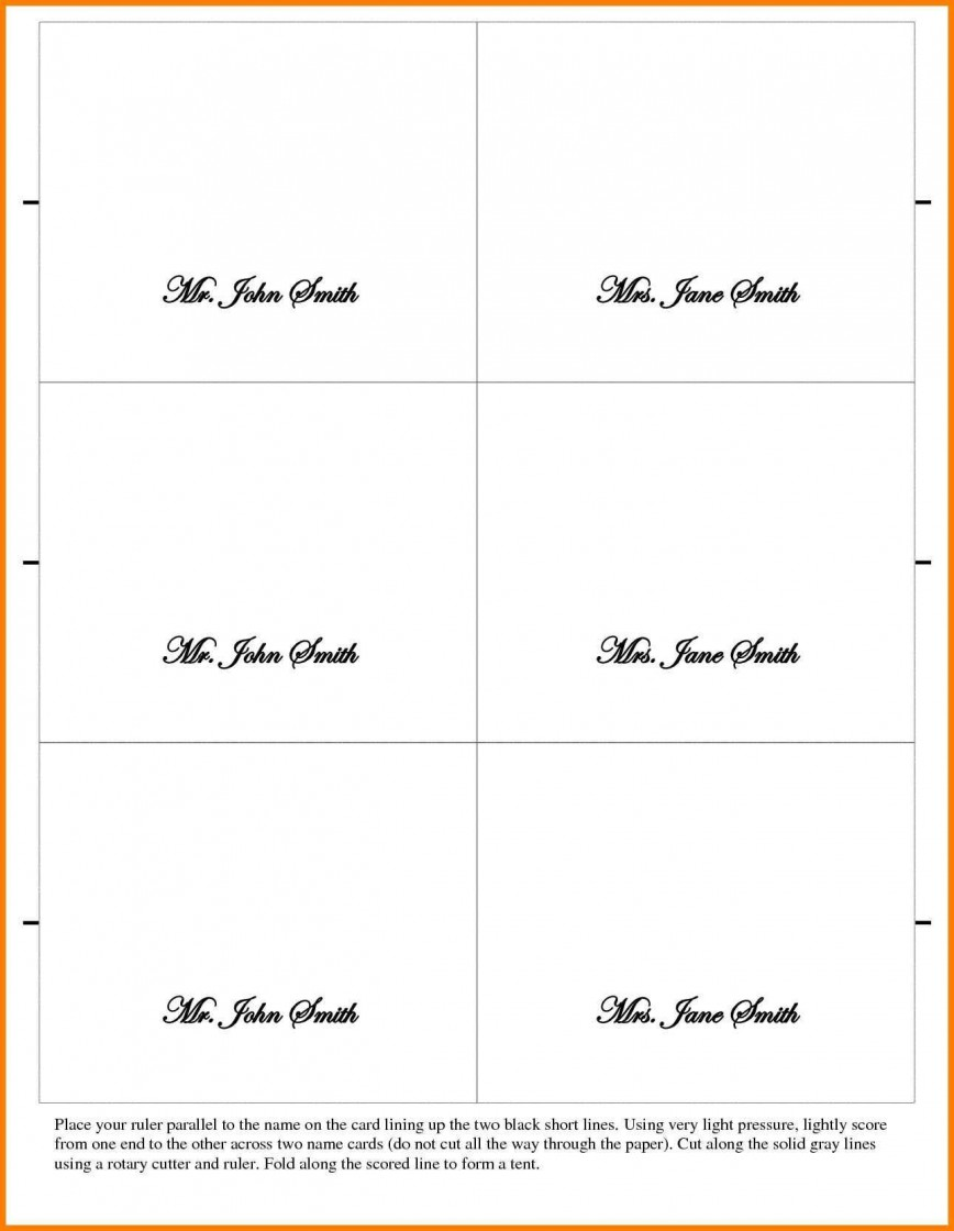 002 Outstanding Place Card Template Word Design  Free Name Folding Microsoft Table868