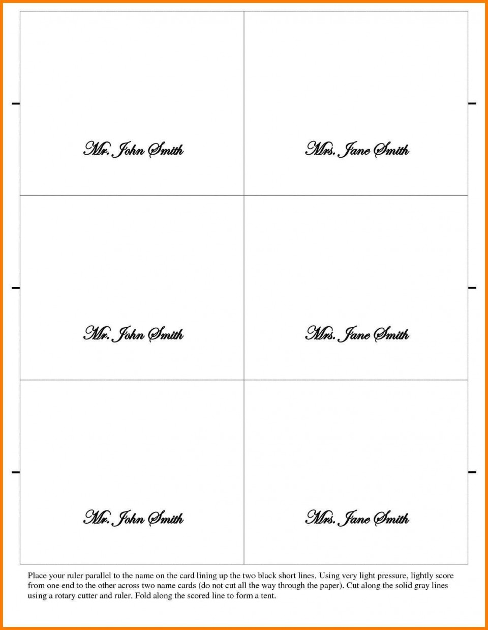 002 Outstanding Place Card Template Word Design  Free Name Folding Microsoft Table960