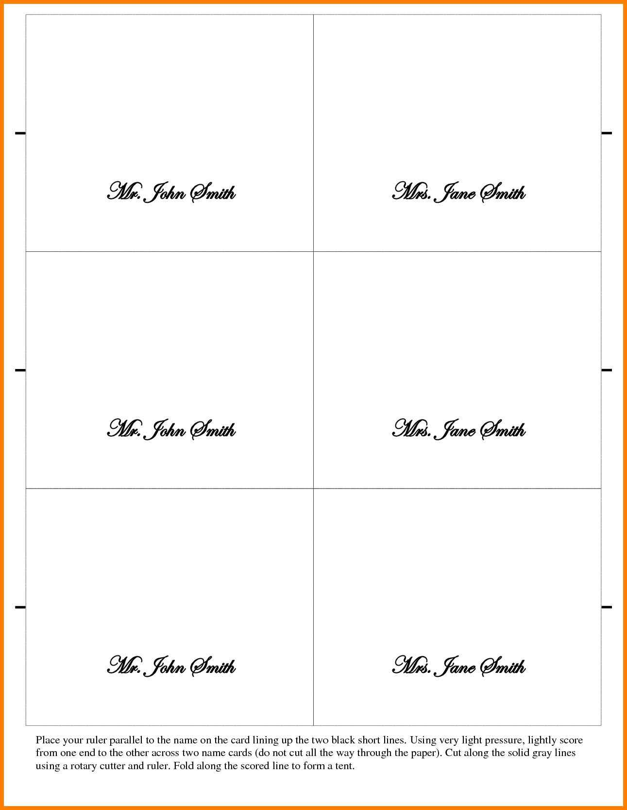 002 Outstanding Place Card Template Word Design  Free Name Folding Microsoft TableFull