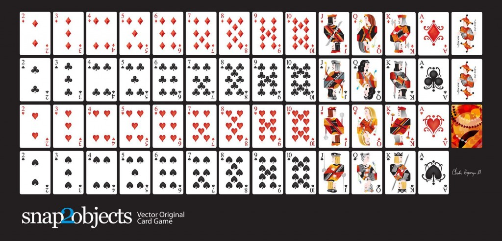 002 Outstanding Playing Card Template Free Download Picture  BlankLarge
