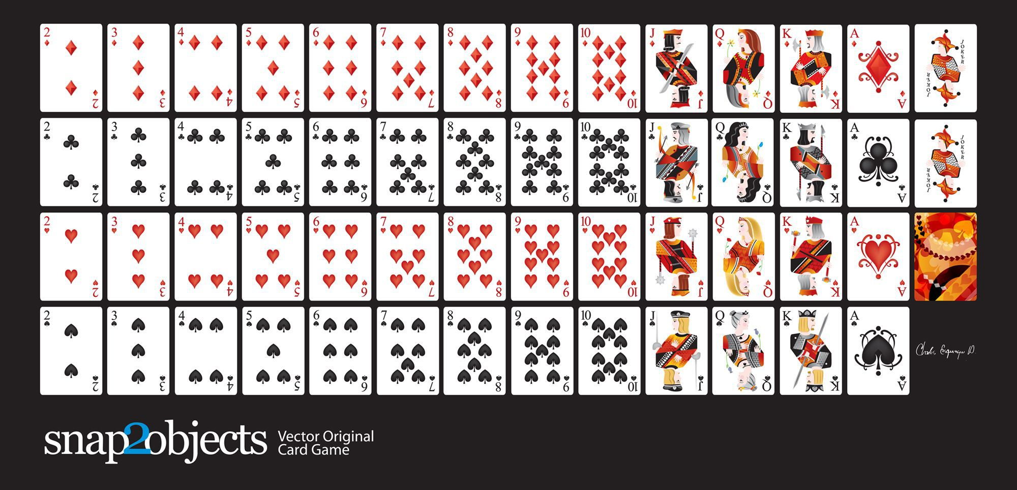 002 Outstanding Playing Card Template Free Download Picture  BlankFull