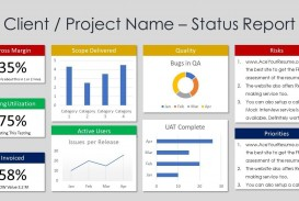 002 Outstanding Project Management Statu Report Template Excel Sample  Progres Update