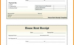 002 Outstanding Rent Payment Receipt Template High Definition  Excel Free