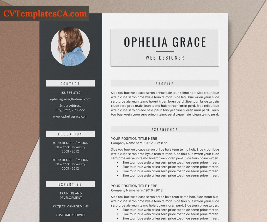 002 Outstanding Simple Professional Cv Template Word High Definition Large