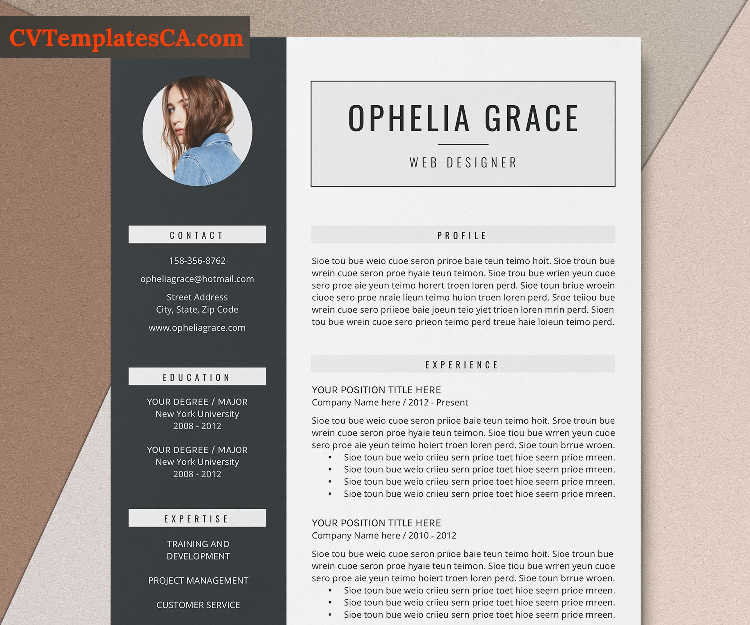 002 Outstanding Simple Professional Cv Template Word High Definition Full