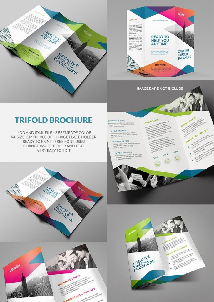 002 Outstanding Tri Fold Brochure Indesign Template Picture  Free Adobe728