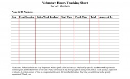 002 Outstanding Volunteer Hour Form Template Picture  Service Community Pdf