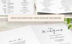 002 Outstanding Wedding Order Of Service Template Word Sample  Free Microsoft
