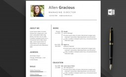 002 Outstanding Word Resume Template Free Download Highest Quality  Creative Curriculum Vitae Cv Microsoft 2007
