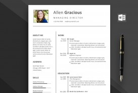 002 Outstanding Word Resume Template Free Download Highest Quality  M Creative Curriculum Vitae Cv