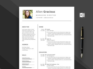 002 Outstanding Word Resume Template Free Download Highest Quality  M Creative Curriculum Vitae Cv320