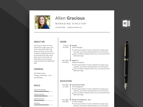 002 Outstanding Word Resume Template Free Download Highest Quality  M Creative Curriculum Vitae Cv480