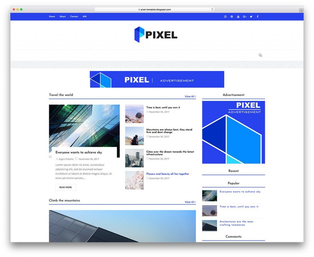 002 Phenomenal Best Free Blogger Template Highest Quality  Templates Responsive 2019 2020Large