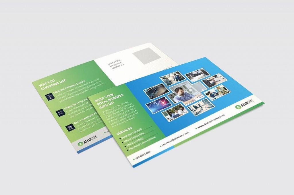 002 Phenomenal Busines Postcard Template Microsoft Word High Definition Large