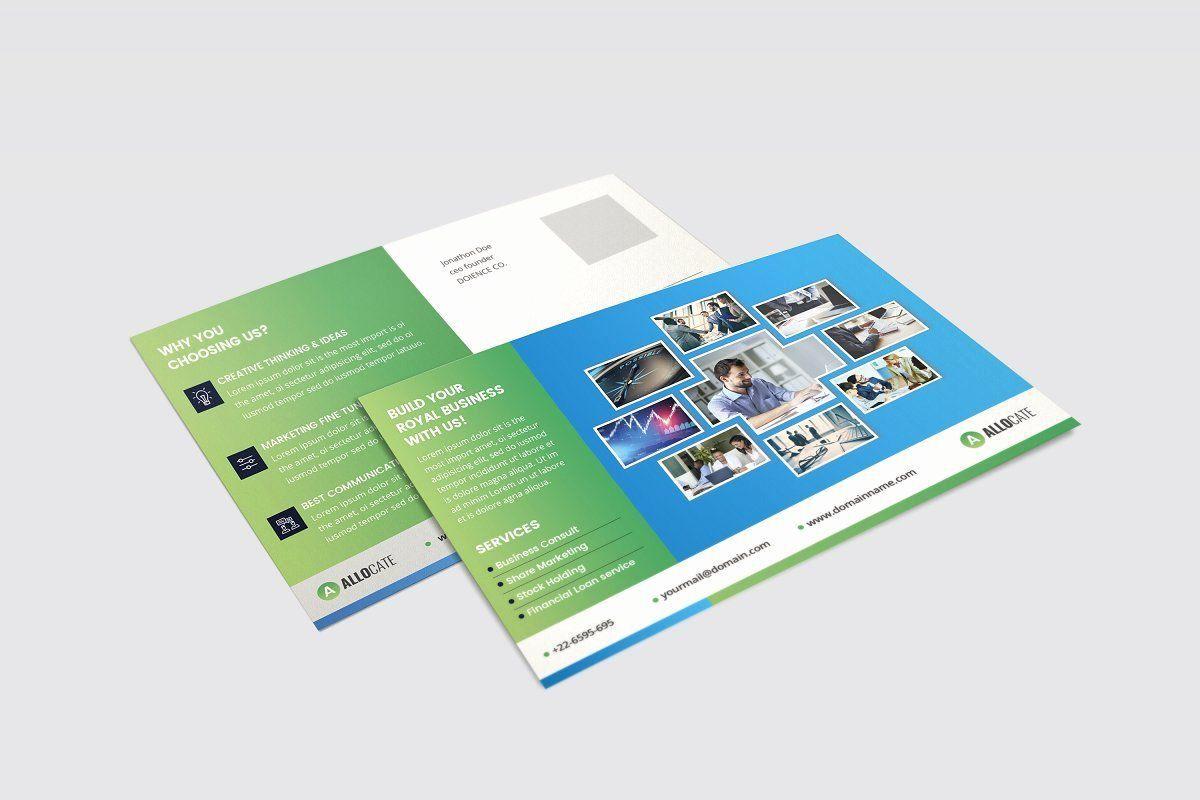 002 Phenomenal Busines Postcard Template Microsoft Word High Definition Full