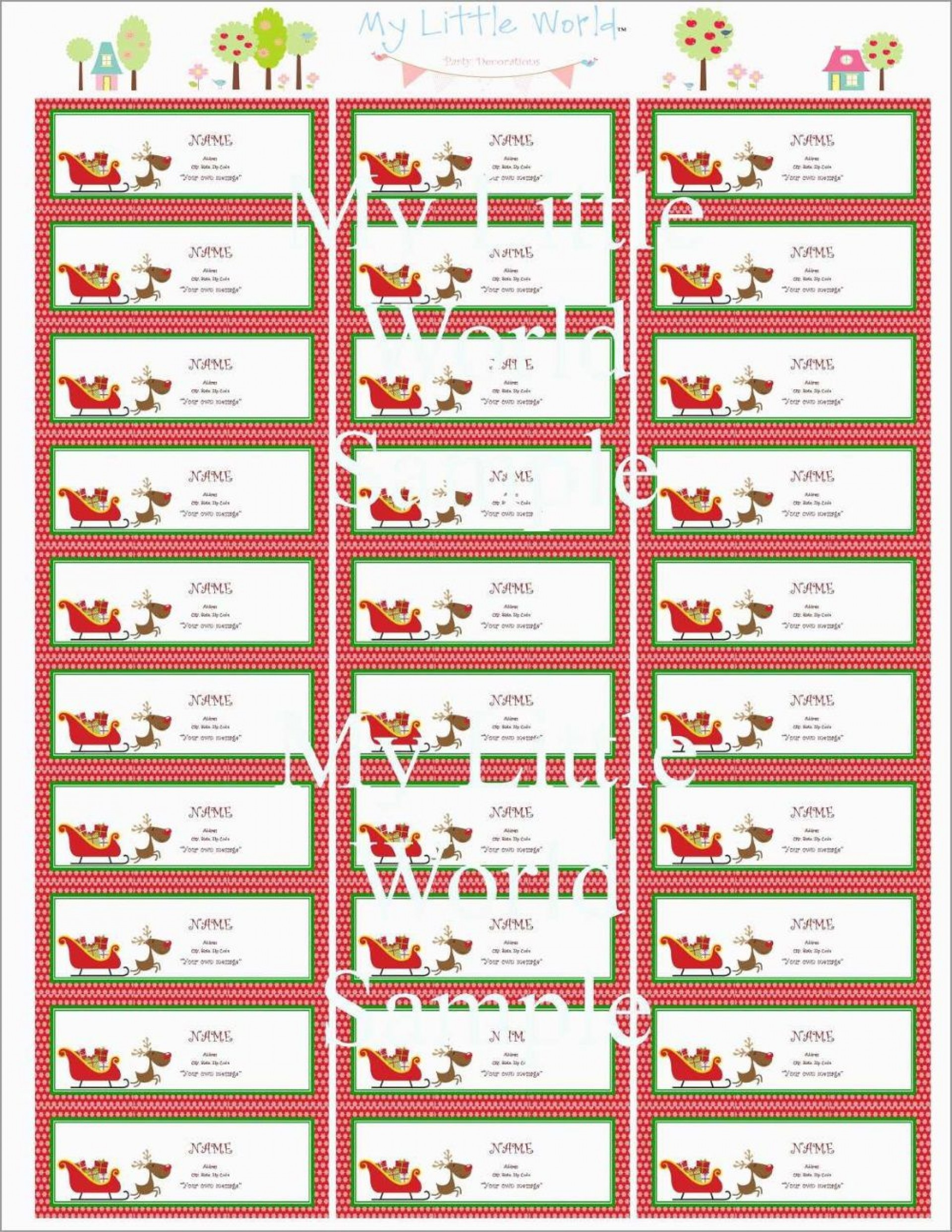 002 Phenomenal Christma Mailing Label Template Highest Quality  Addres Free Download Return1920